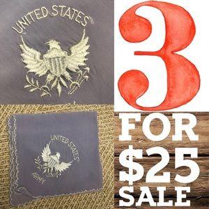 Vintage Accessories - Lavender Vintage US Army Hankie